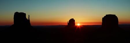 Monument Valley Sunrise Panorama. Phase P65+ and Mamiya 75-150mm